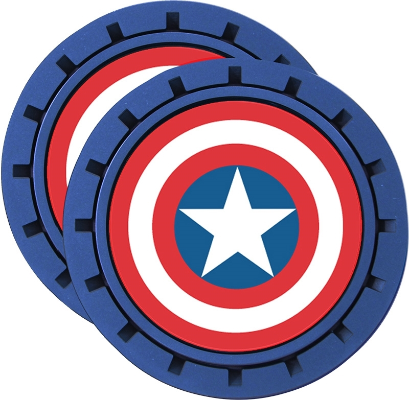 Plasticolor Marvel Captain America Cup Holder Coaster Inserts