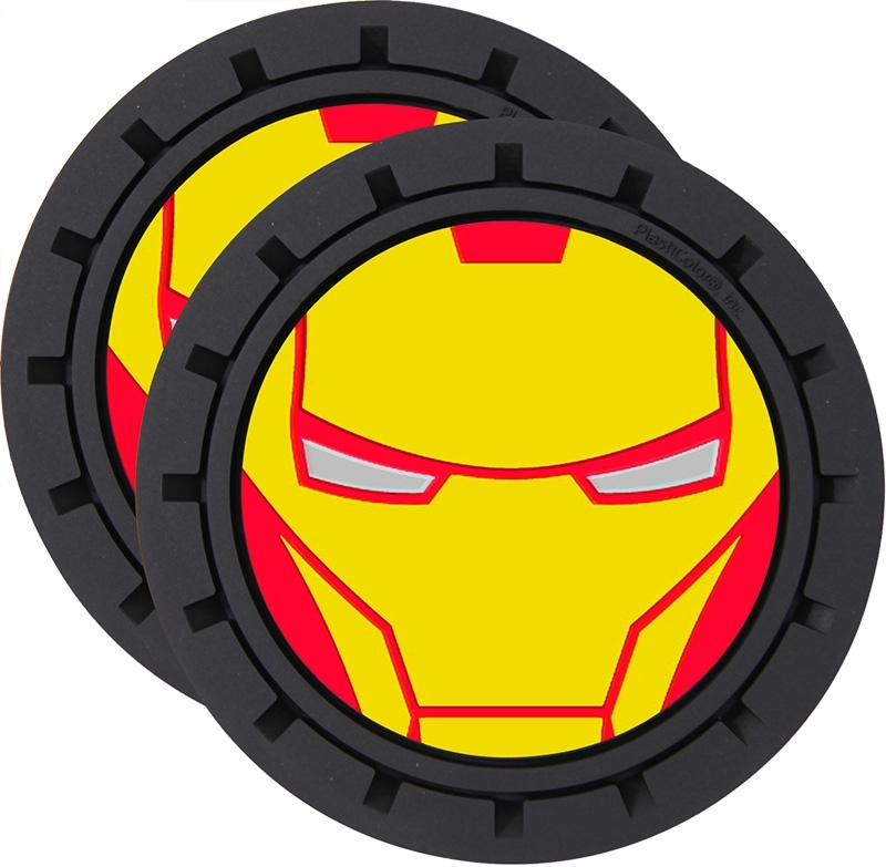Plasticolor Marvel Iron Man Cup Holder Coaster Inserts