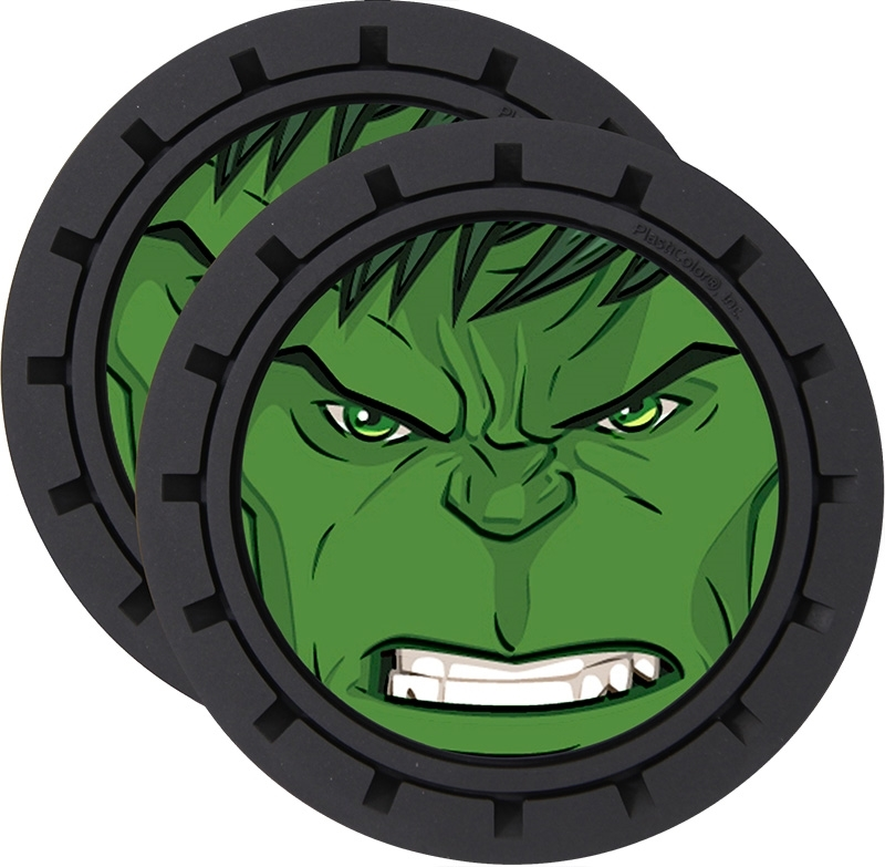 Plasticolor Marvel Incredible Hulk Cup Holder Coaster Inserts