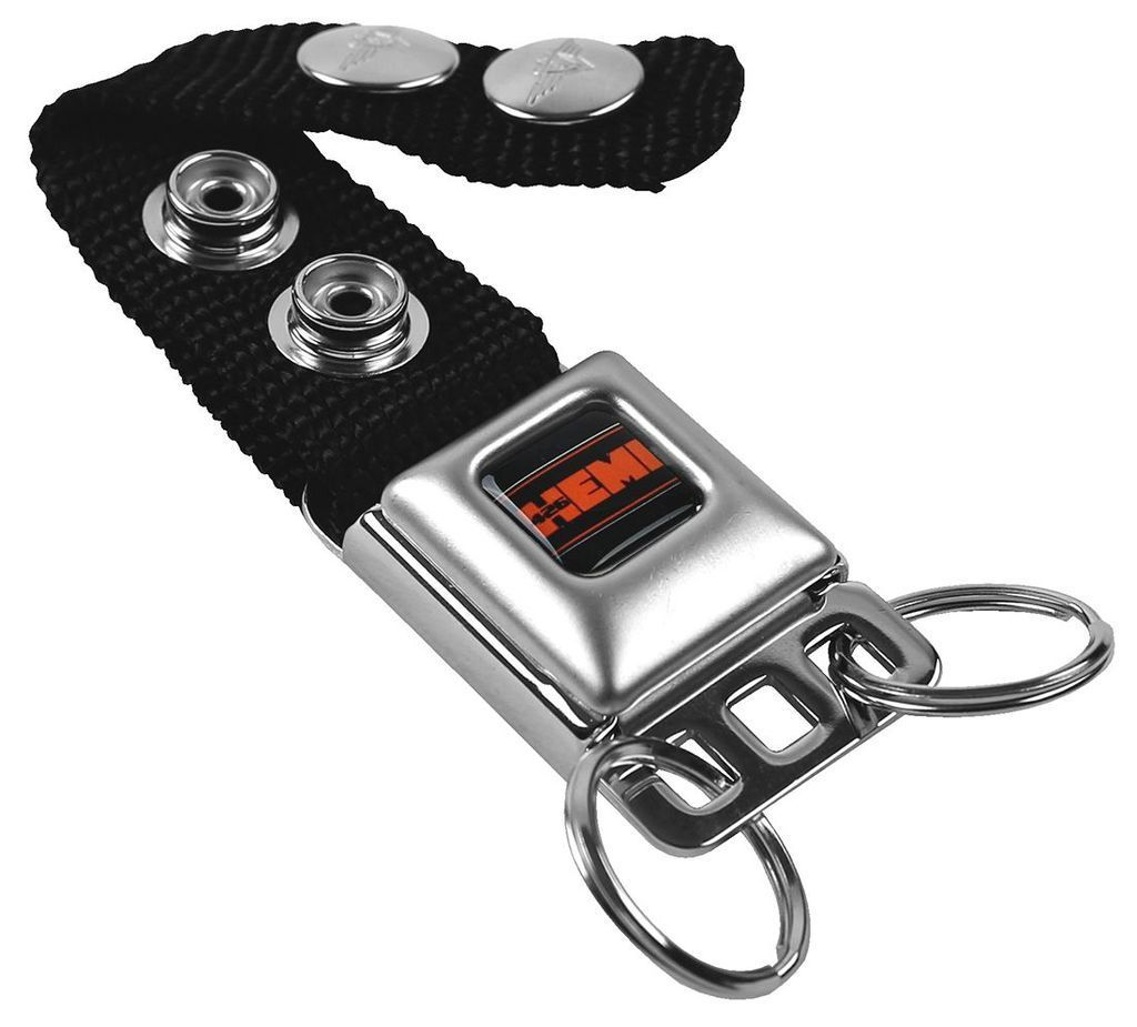 Black-Orange 426 Hemi with Border Seat Belt Key Chain