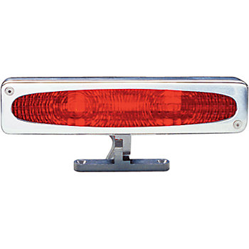 All Sales Oval Style Polished Pedestal Third Brake Light