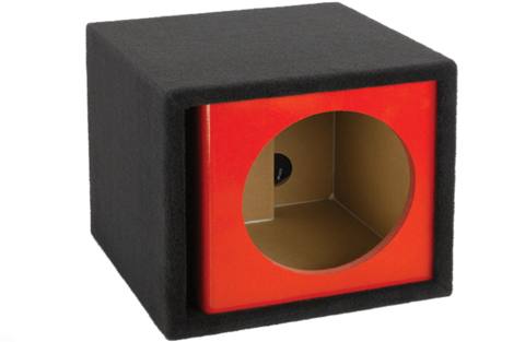 "Single 12"" Vented Kandy Finish Universal Subwoofer Enclosure"
