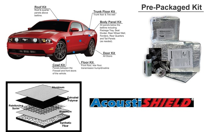 Quiet Ride Solutions Acoustic Complete Kit Dodge Challenger