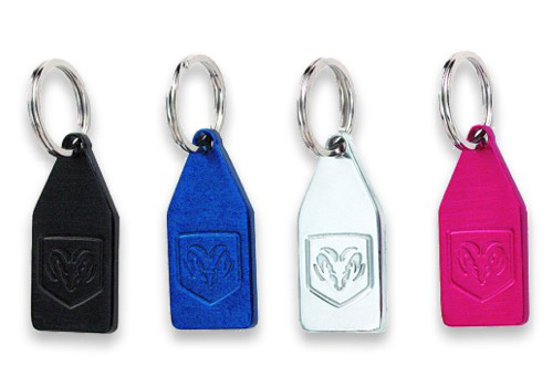 Autotecnica Blue Billet Key Chain With Ram Head Logo