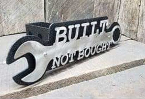 """Built Not Bought"" Custom Receiver Hitch Cover Plug"