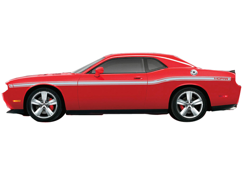 """Mopar"" Silver Body Side Stripe Kit 08-up Dodge Challenger"