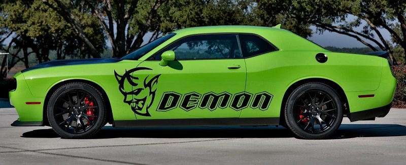 Custom DEMON Side Body Decals 17-18 Challenger Demon