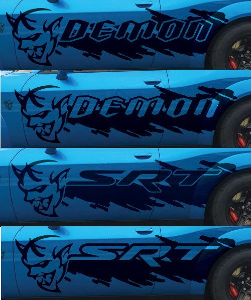 Custom DEMON Splash Side Body Decals 15-up Challenger-Charger