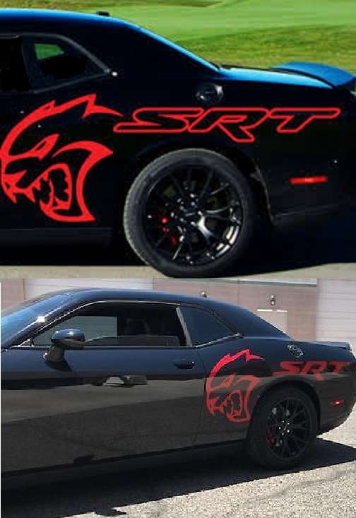 Custom Hellcat SRT Quarter Panel Decals 15-up Challenger-Charger
