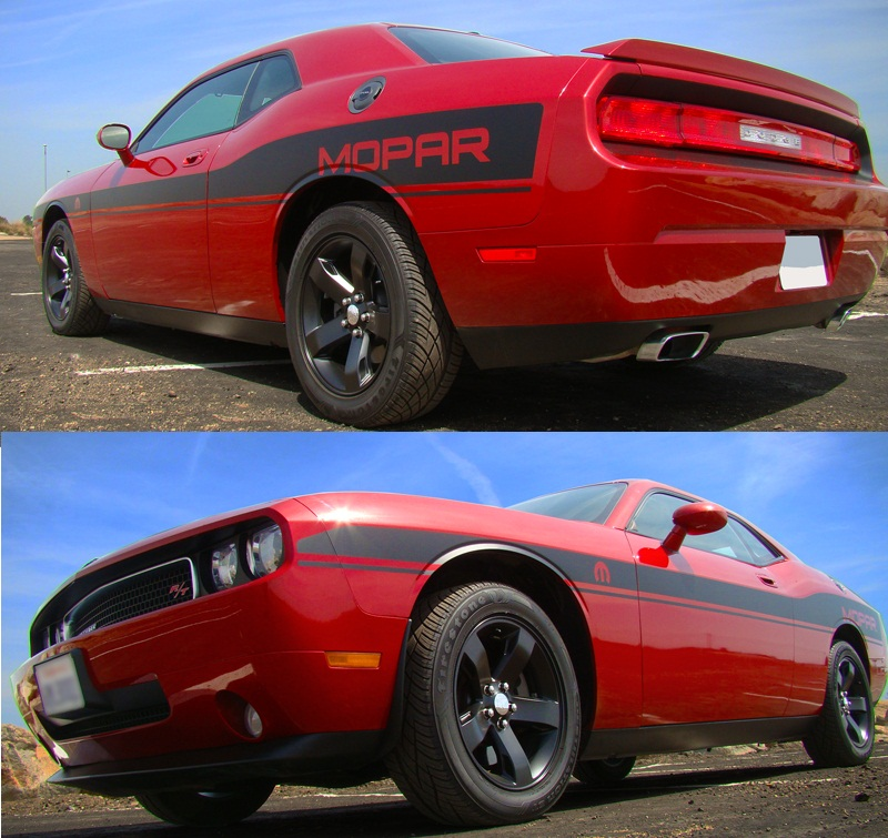 """Mopar"" Custom Beltline Body Stripe Kit 08-up Dodge Challenger"