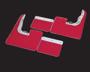 Cusco 4-Pc Universal Red Mud Flap Set