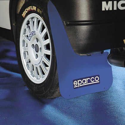 Sparco 2-Pc Universal Blue Mud Flap Set