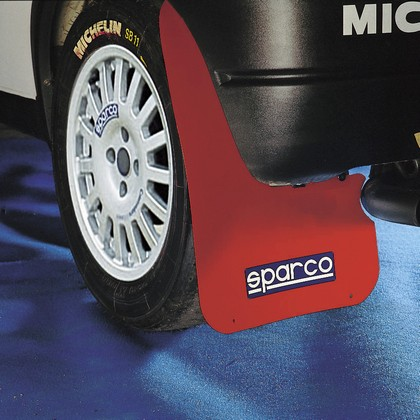 Sparco 2-Pc Universal Red Mud Flap Set