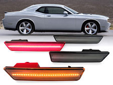 2015-up Dodge Challenger Smoke LED Front & Rear Side Markers