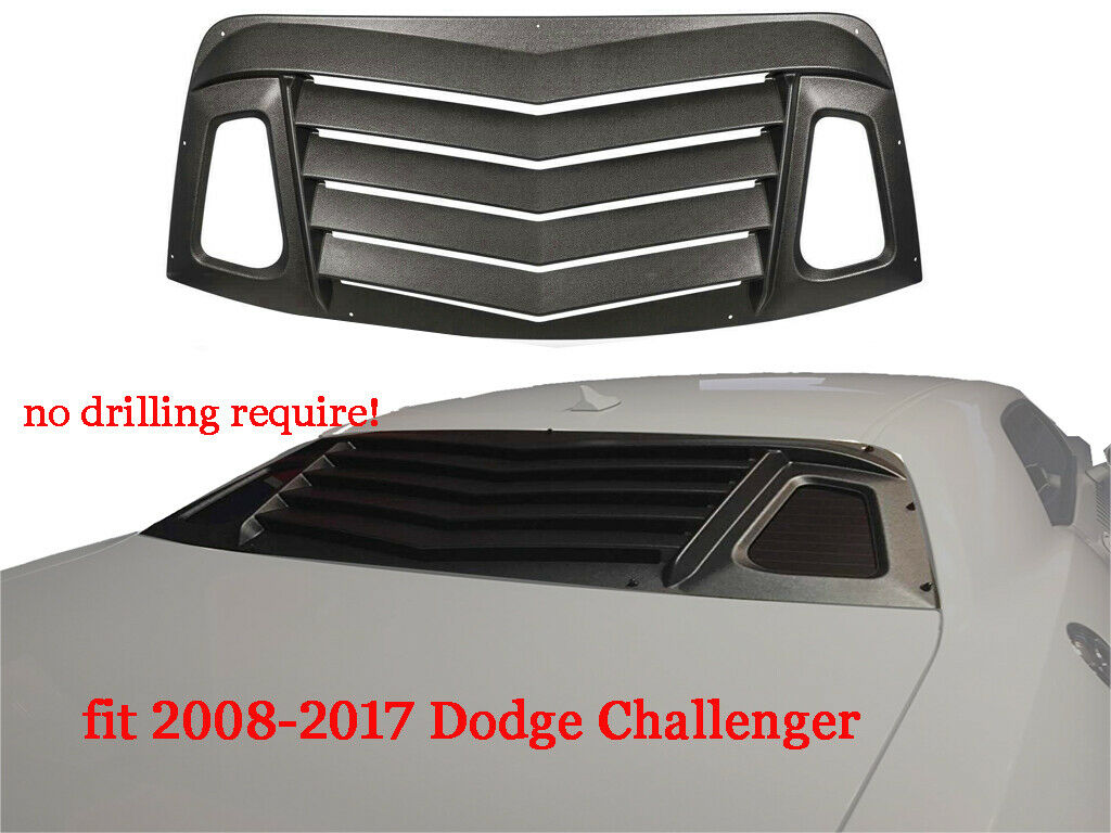 VSEX ABS Rear Window Louver Kit 08-up Dodge Challenger
