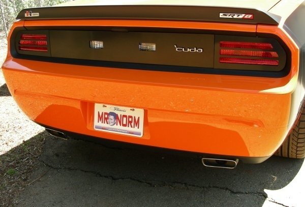 Mr  Norm's 'Cuda Tail Light Overlay 08-up Dodge Challenger 'Cuda