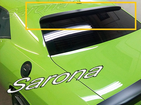 Sarona Fiberglass Low Style Roof Wing 08-up Dodge Challenger