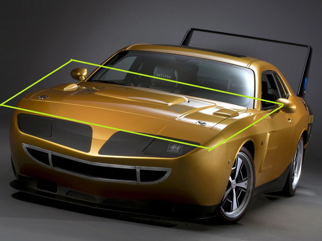 Dodge Daytona-Plymouth Superbird Hood 08-up Challenger