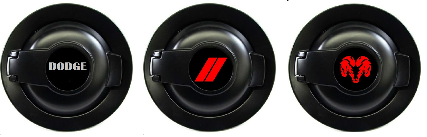 """Dodge"" Fuel Filler Door Decal 08-up Dodge Challenger"