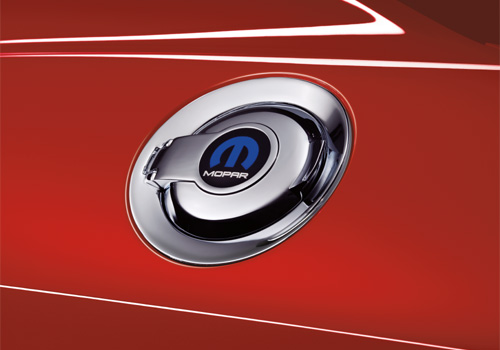 """Mopar"" Logo OEM Dodge Challenger Chrome Fuel Door"