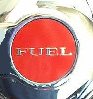 """Fuel"" Custom Colorful Gas Door Decal 08-up Dodge Challenger"