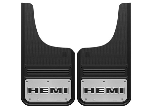 "Truck Hardware 12"" x 23"" 2pc Front Stainless ""HEMI"" Mud Flaps"