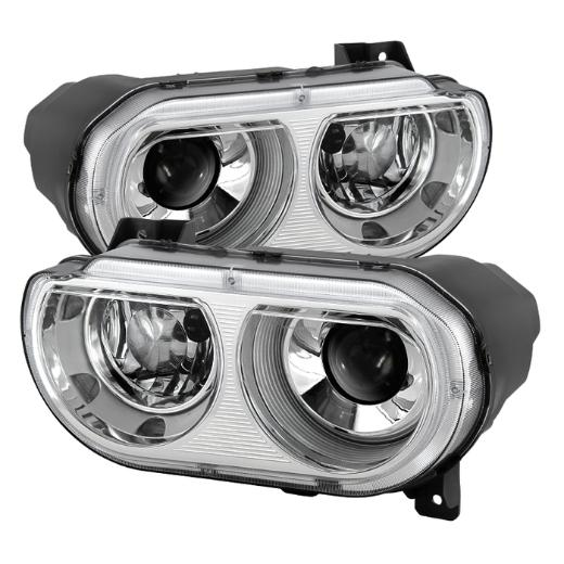 Clear Lens Chrome Projector Headlights 08-14 Dodge Challenger