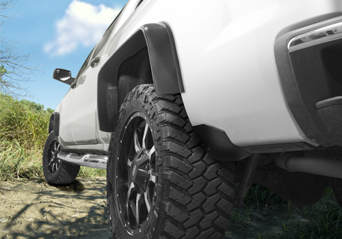 "Husky Liners 3-1/2""Wide Universal 2Pc Mud Grabbers Fender Flares"