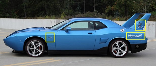 """Plymouth Superbird"" Decal Kit 08-up Dodge Challenger"