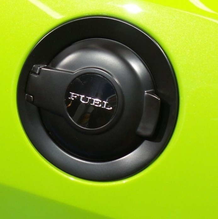 """Fuel"" Logo OEM Dodge Challenger Vapor Black Fuel Door"