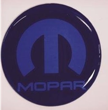 """Mopar"" Fuel Filler Door Decal Emblem 08-up Dodge Challenger"