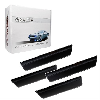 2008-14 Dodge Challenger Smoke LED Front & Rear Side Markers - Click Image to Close