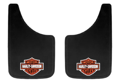 Harley Davidson Logo 2-Pc Universal Mud Flap Set