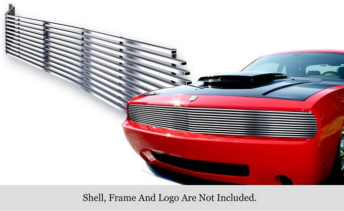Polished Phantom Grille 08-14 Dodge Challenger
