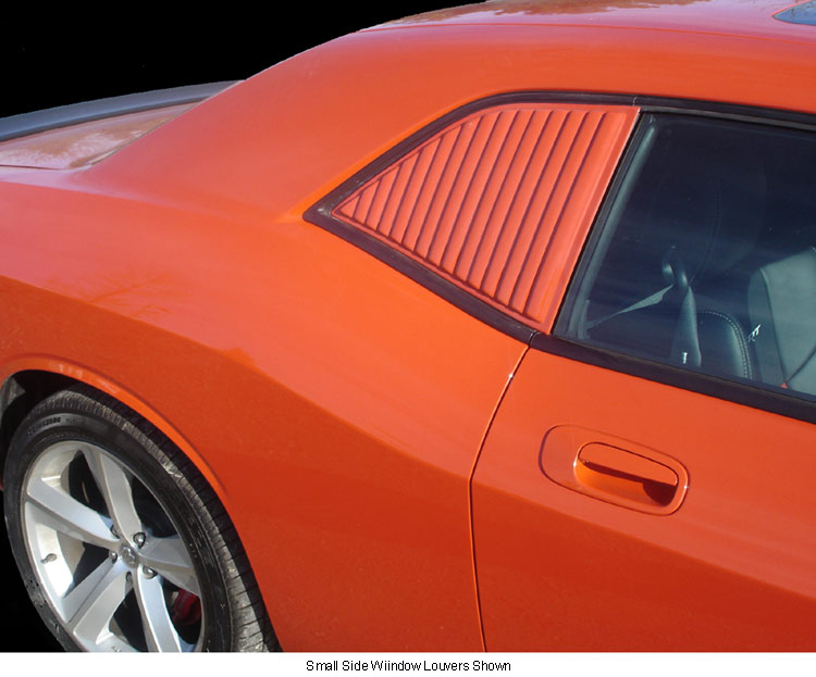 Willpak Small Side Rear Window Louvers 08-up Dodge Challenger