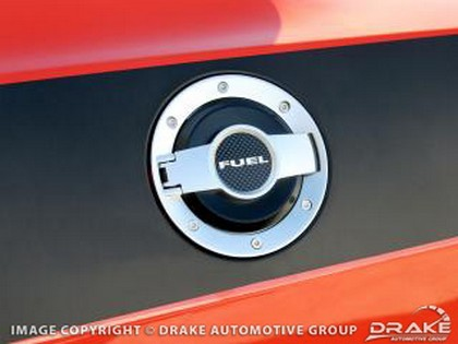 Drake Automotive Billet Satin Fuel Door Dodge Challenger