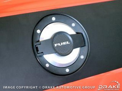 Drake Automotive Billet Black Fuel Door Dodge Challenger