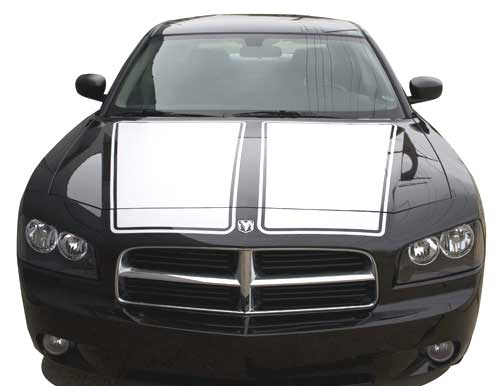 Custom Dual Hood Stripe Kit Dodge Charger