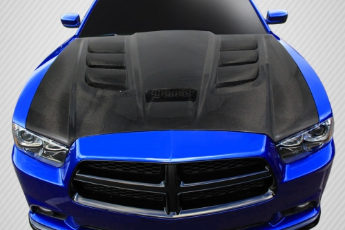 Carbon Fiber Viper Style Hood 11-14 Dodge Charger