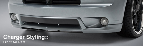 3D Carbon Urethane Front Air Dam 06-10 Dodge Charger