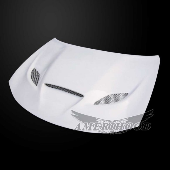 Fiberglass Hellcat Style Hood 15-up Dodge Charger