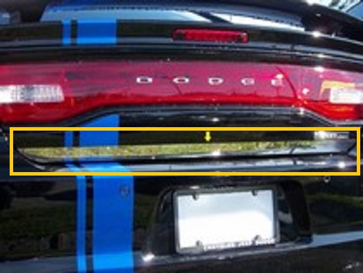 QAA Stainless Rear Bumper Overlay Trim 11-up Dodge Charger