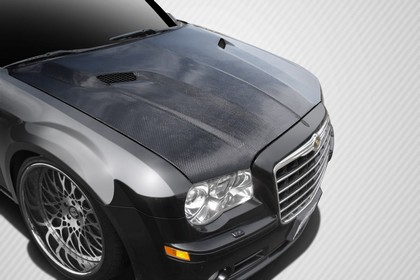 Carbon Fiber Challenger Style Hood 05-10 Chrysler 300/300C - Click Image to Close
