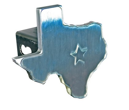 Brushed Finish Chrome Texas State Cutout Hitch Plug