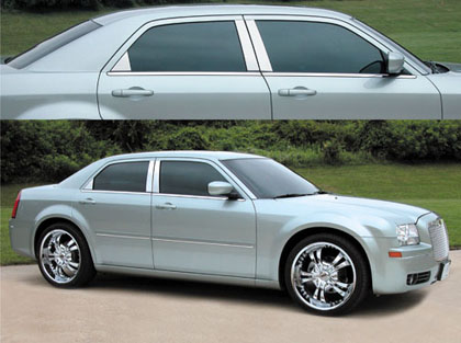 E&G Polished Stainless Pillar Post Covers 05-10 Chrysler 300