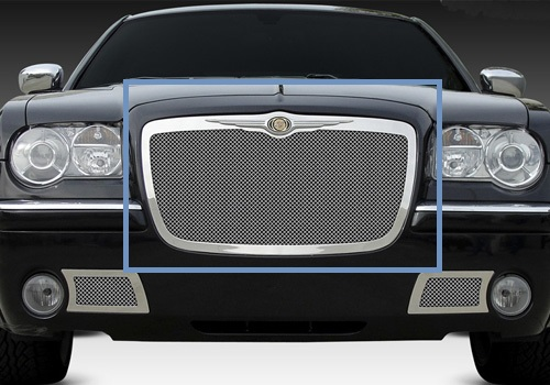 T-Rex Polished Stainless Grille w/Wire Mesh 05-10 Chrysler 300