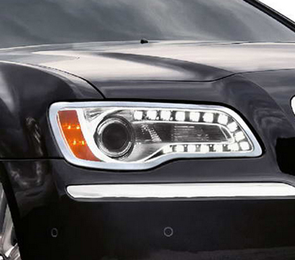 Restyling Ideas Chrome Headlight Bezels 11-14 Chrysler 300
