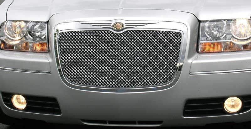 T-Rex Polished Hybrid Style Mesh Grille 05-10 Chrysler 300