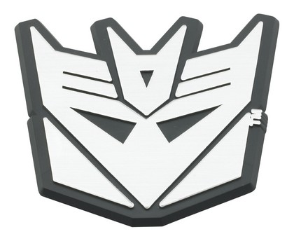 Decepticon Brushed Chrome-Black Emblems