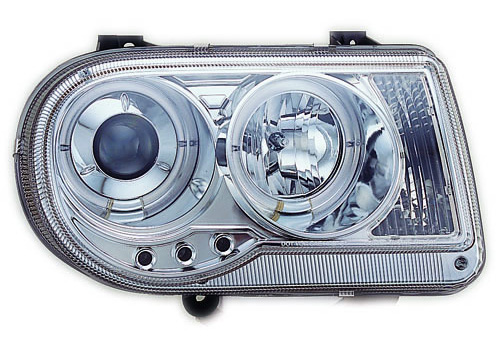 IPCW Projector Chrome Headlights With Rings 05-10 Chrysler 300C